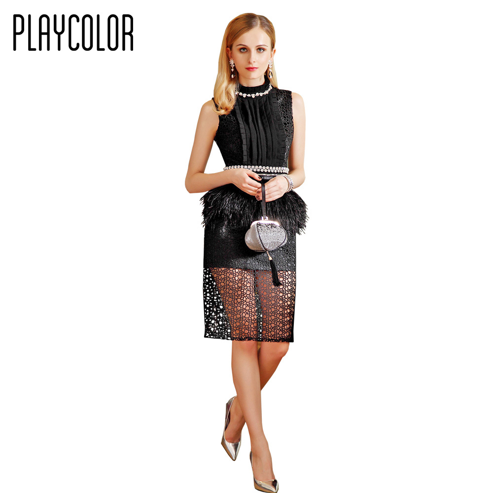 PLAYCOLOR Elegant Evening Dress White/Black Evening Gowns 2017 Beading Sashes Prom Dress Sleeveless Party Dress _PD1506015