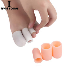 1 Pair Silicone Gel Toe Sleeves Separators Finger Tube Insole Protector Foot Caps Feet Insert