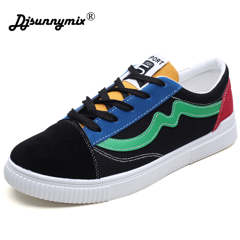 DJSUNNYMIX New Low-Top Men Skateboarding Shoes Sport Shoes Canvas Sneakers free shipping