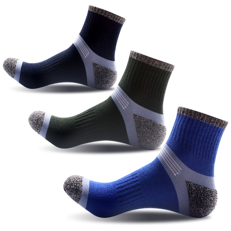 MOBTRS Solid Color Man Socks Fashion Designer Men For Socks Casual All-Match Business Socks Male 3pairs/lot