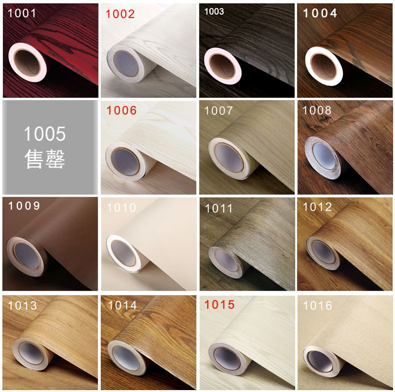 Furniture Refresh Sticker Wooden Design Self-adhensive Wall Paper Decorative Pvc Material Wall Stickers Textiles Table Protector
