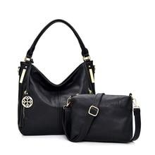hot deal buy 2019 vintage women messenger bags pu leather crossbody bags for women 2 set luxury handbags women bags designer shoulder bags