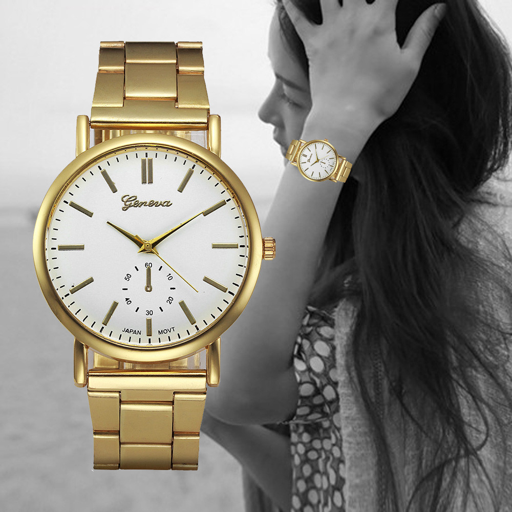 Montre Luxury Watches Women Gold Stainless Steel Analog Quartz Watch Ladies Fashion Geneva Wrist Watch Clock Reloj Relogio #Zer english world workbook level 9 cd