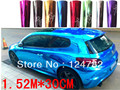 Free Shipping 1.52*30CM High Quality air channel material MIRROR FILM, CHROME Vinyl Wrapping Film Chrome Film