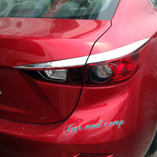 Для Mazda 3 Axela 2014 2015 2016 2017 Седан ABS Chrome Задний свет бровь украшения крышка отделка 4 шт. автомобиля Styling!