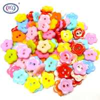 HL 100pcs 12mm Mini multicolour sew-on buttons candy color  child sewing supplies plastic buttons A107