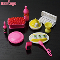 2016 New 10Pcs/lot Doll Accessories For Barbie Dolls / Monster Hight Dolls Kitchen Cake Play House Toys for Girls Baby#T03013
