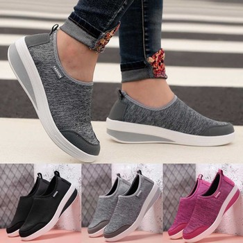 2019 New Sports Shoes Fashion Women Mesh Heightening Shoes Soft Bottom Rocking Shoes Walking Sneakers Dropshipping sportschoenen