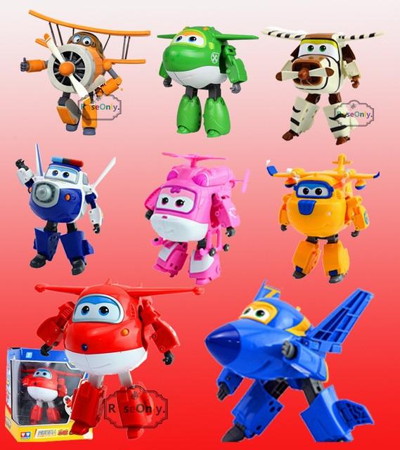 Grande taille 15 cm 2016 nouveauté Super ailes ABS avions Transformation robot avion Robots Brinquedos JETT figurine jouets/50