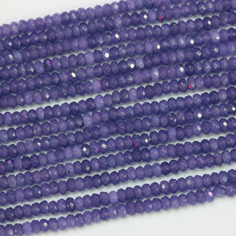 Purple Jades <font><b>Stone</b></font> Chalcedony Round <font><b>Natural</b></font> Stones Loose Beads 15