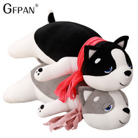 Creative Simulation scarf huskies Plush Toys &Pillow Cute Stuffed Doll Cushion Valentine Gift Toy For kids Collection Home Decor