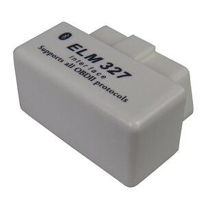 Image 3 - Mini Elm327 Bluetooth Obd2 Car Diagnostic Scanner For Android Elm 327 V2.1 OBDII elm 327 Obd 2 White Auto Code Diagnostic Tool