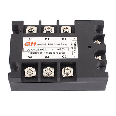 JGX-33 100A DC to DC DD 3.5-32V DC to 480V DC Three 3 Phase Solid State Relay коробка для чехлов printio хаос во мне