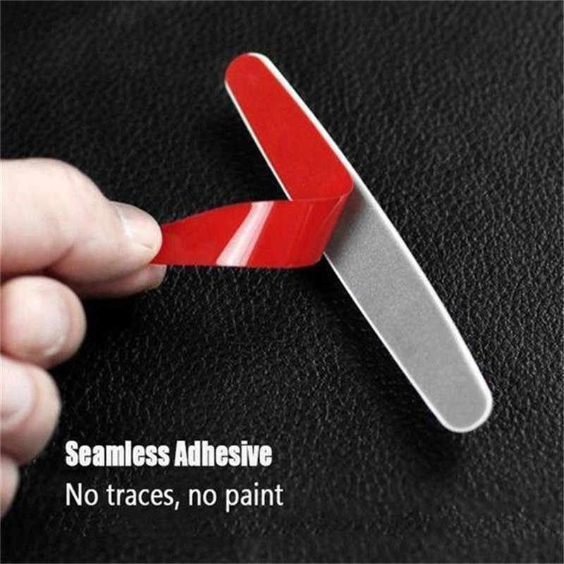 Kongyide Auto Sticker 4 stks/set Autodeur Edge Anti-Scratch Guard Protector Molding Decor Bumper Strips 110x12mm je12