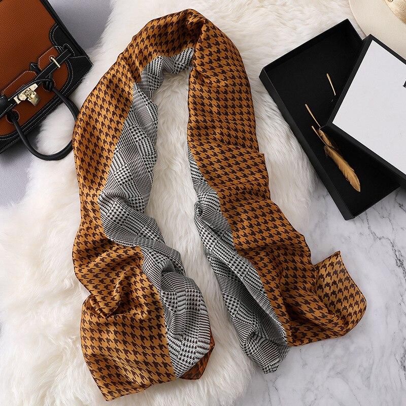 winter silk   Scarf   luxury Brand 2018 Classic Pashmina   Scarf   Women   Scarves     Wraps   Autumn Winter Shawls