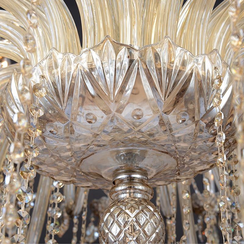 현대 천장 샹들리에 고급 유리 샹들리에 크리스탈 - 실내 조명 - 사진 2