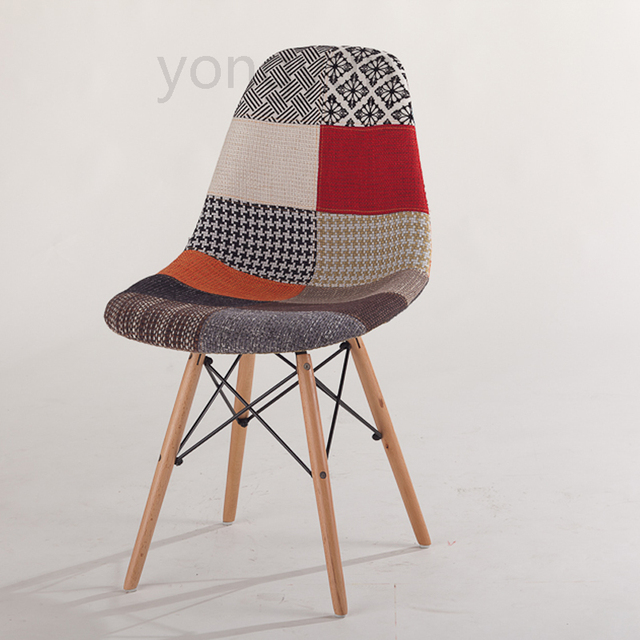 Minimaliste Moderne Salon Chaise De Loisirs Rembourres Patchwork Tissu A Manger En