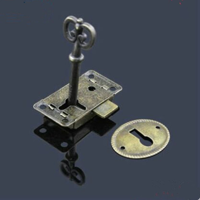 Vintage Style Zinc Alloy Drawer Small Locks , Antique Brass Dresser Door  Locks ,bronze Cabinet
