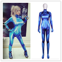 Game Samus Zero Aran Cosplay Women Girls 3D Printing Spandex Lycra Zentai Bodysuit Suit Jumpsuits Cosplay Costume
