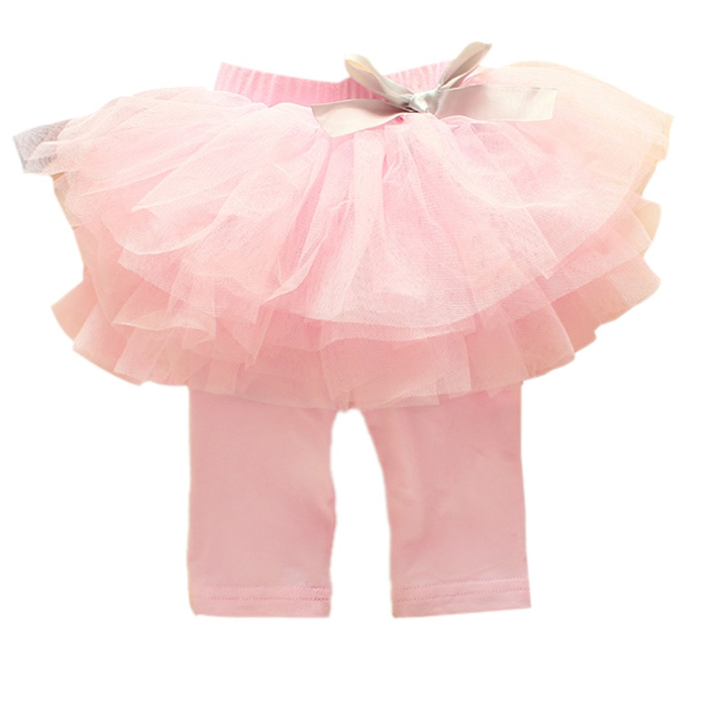Kids Baby Girls Culottes Leggings Gauze Pants Party Skirts Bow Candy Tutu Dress 0-3Y