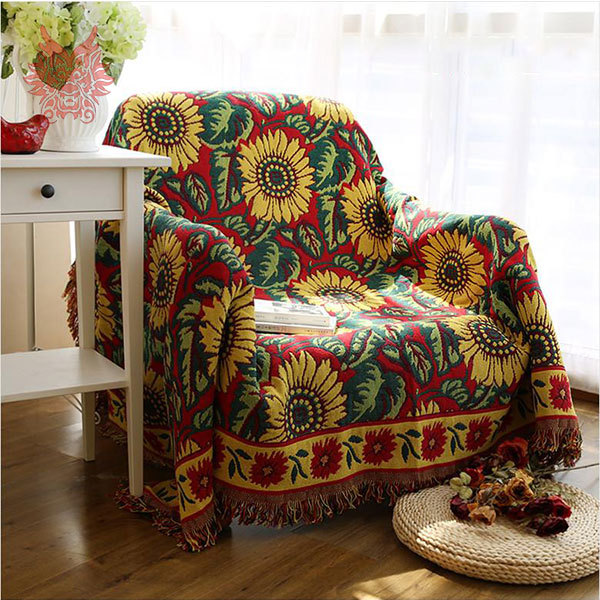 Beau 100%Cotton Sofa Cover Sofa Towel With Sunflower Jacquard Sofa/chair Blanket  Slip Resistant Vintage Sofa Cover Free Ship SP1891 In Sofa Cover From Home  ...