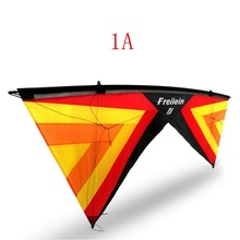 цена на Outdoor Quad Line Stunt Kite Beach Power Sport Kite 4 Lines With Handles Flying Line For Players Shows 16 Colors