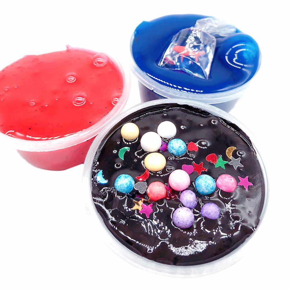 パフクリスタル泥混合クラウドスライムパテ香り抗ストレス子供粘土フワフワおかしいおもちゃ子供のためのサプライズドロップシッピング