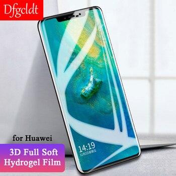 Перейти на Алиэкспресс и купить Новый 3D полный Чехол Гидрогелевая пленка для Honor 9 Youth Magic 2 защита экрана Huawei Nova 3 3i P20 Mate 9 10 Pro 20 Lite не стекло