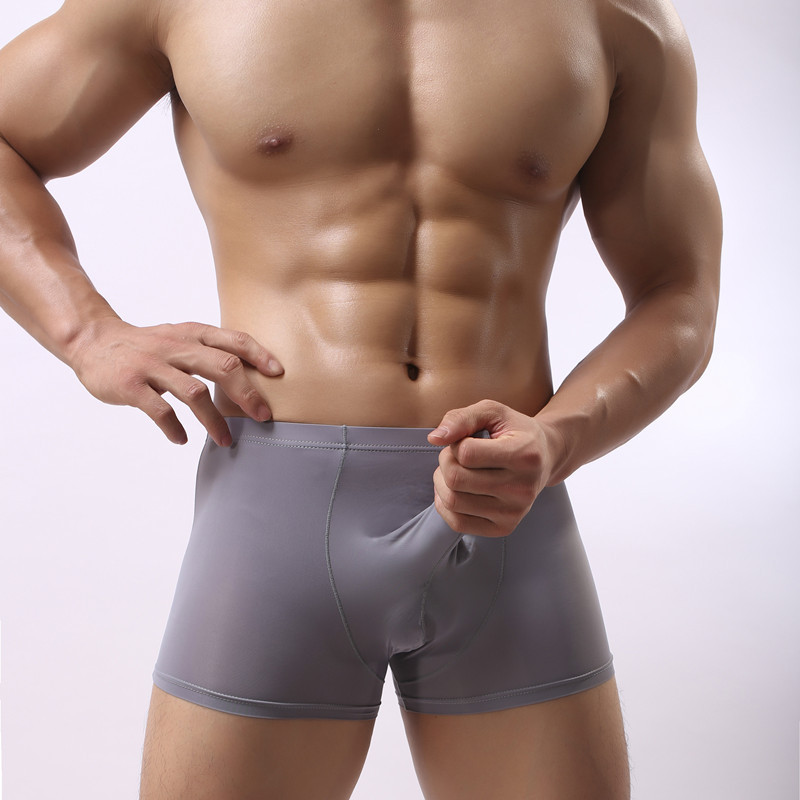 Laamei Low Waist Men Underwear G string Thongs Underwear Ice Silk Bikini With Big Long Pennis Cock Pouch Gay Boxer Underwear