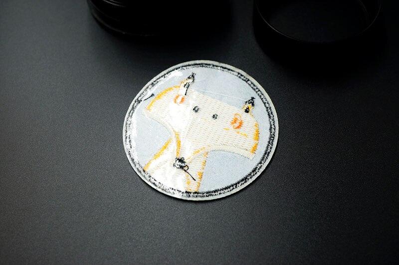 Размер лисы: 6,0x6,0 см вышитая нашивка для одежды, пришивная аппликация, милая тканевая одежда, обувь, сумки, украшение, нашивки