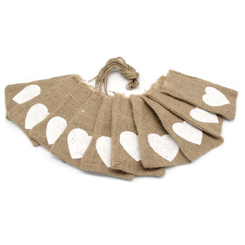 10pcs Rustic Wedding Favor Burlap Bags Jute Sack Candy Pouch Gift ...