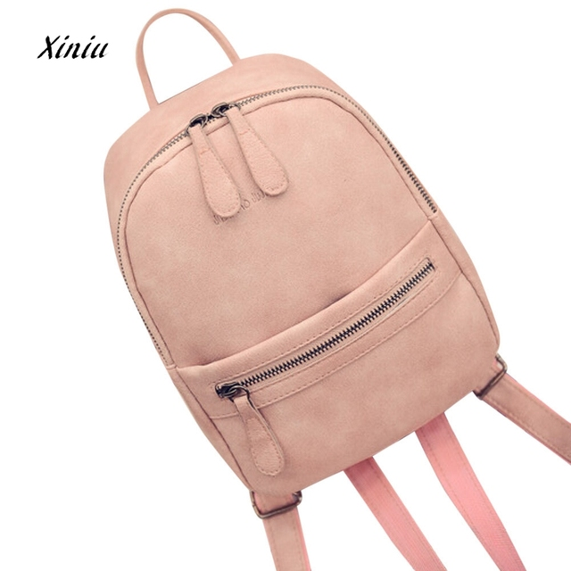 e203d71fe07a Women Girls Cute Backpacks Candy Color Rucksack Shoulder Bookbags School Bag  Satchel Travel Leather Backpack For