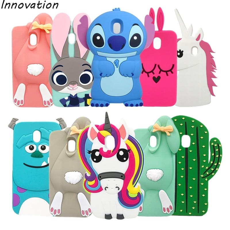 Galleria fotografica Cute 3D Cartoon Soft Silicone Case For Samsung Galaxy J5 2017 J530 J530F 5.2