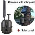 4G Caccia telecamere controllo Scout Fotocamera Selvaggio Foto-trappole GPS/Email/MMS/FTP/GSM con 3000 mAh Esterno del Caricatore del Pannello Solare di Alimentazione della Fotocamera 4G