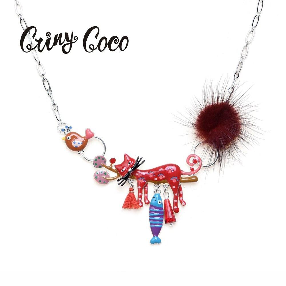 Émail déclaration chaîne en métal Choker chat colliers chaton bijoux pendentifs collier 2019 nouvelles mode pour les femmes accessoires Choker