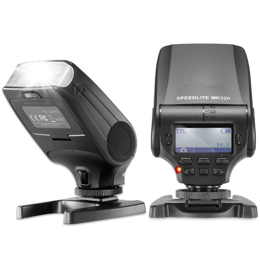 Neewer NW320 TTL LCD Display Flash Speedlite for Panasonic <font><b>Lumix</b></font> DMC GF7 GM5 GH4 GM1 <font><b>GX7</b></font> G6 GF6 GH3 Olympus OM-D E-M5 II E-M10 image