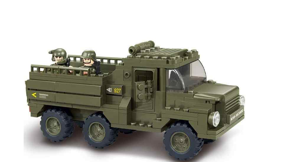 230pcs Military Constructor Model Kit Blocks Bricks Toys for Boys Girls Children Modeling