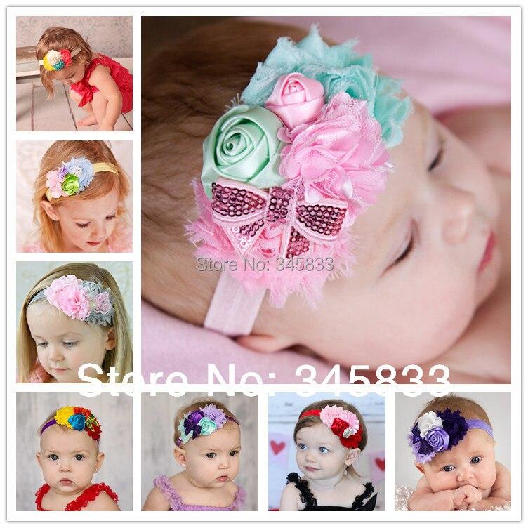 newborn infant baby flower hair headband children toddler bow girl band baby kids hair wear Kids accessories