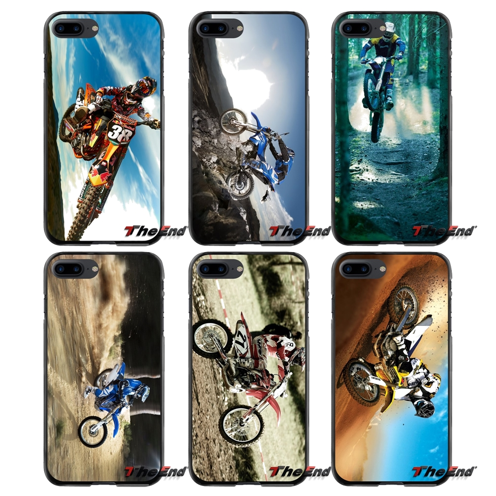 For Apple iPhone 4 4S 5 5S 5C SE 6 6S 7 8 Plus X iPod Touch 4 5 6 Motocross Bike Accessories Phone Shell Covers