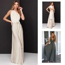 Elegant Gradient Casual Women Maxi Dress Sexy Multiway Dress Party Wedding  Bridesmaid Maternity Dresses XS- d4dd56d3d355