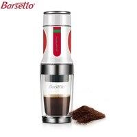 BARSETTO Portable Hand Press Coffee Maker Mini Handheld Espresso Pods Coffee Capsule Machine(White)