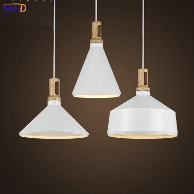 IWHD Modern Wood Pendant Lights Lamparas Fashion Iron lamp shade Luminaire Dining Room Lights Pendant Lamp For Home Lighting 2016 new luminaire lamparas pendant lights modern fashion crystal lamp restaurant brief decorative lighting pendant lamps 8869