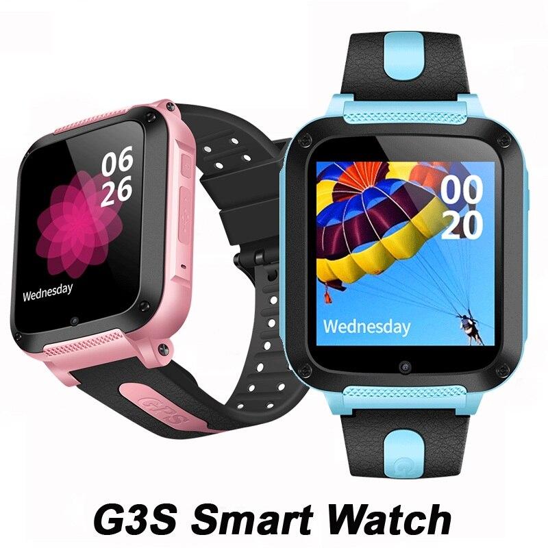 GPS G3S enfants montre intelligente étanche téléphone Position caméra enfants regarder SOS intelligent bébé Tracker Whatsapp pk Q18, DZ09, GT08 montre