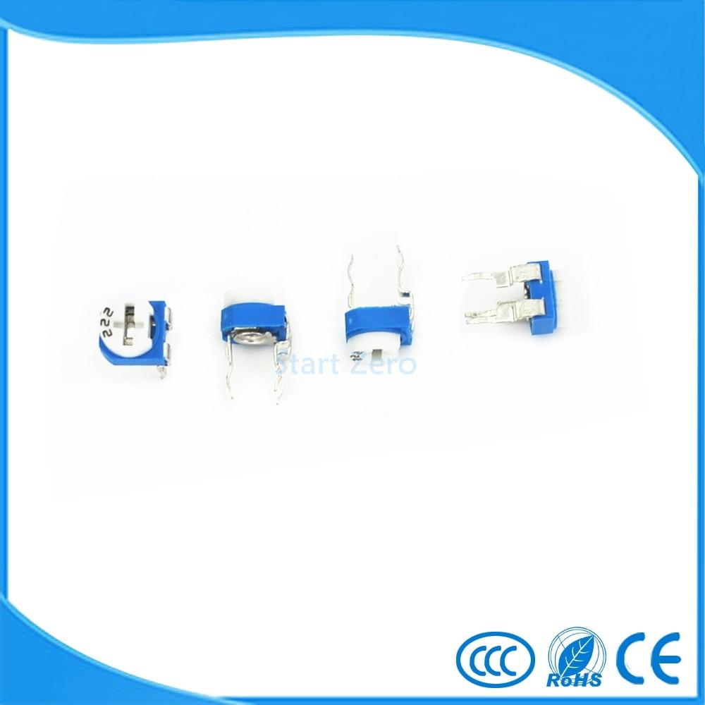 Lowered 50pcs Carbon Film Horizontal Trimmer Potentiometer Rm065 Variable Resistor Circuit 100r 200r 500r 1m