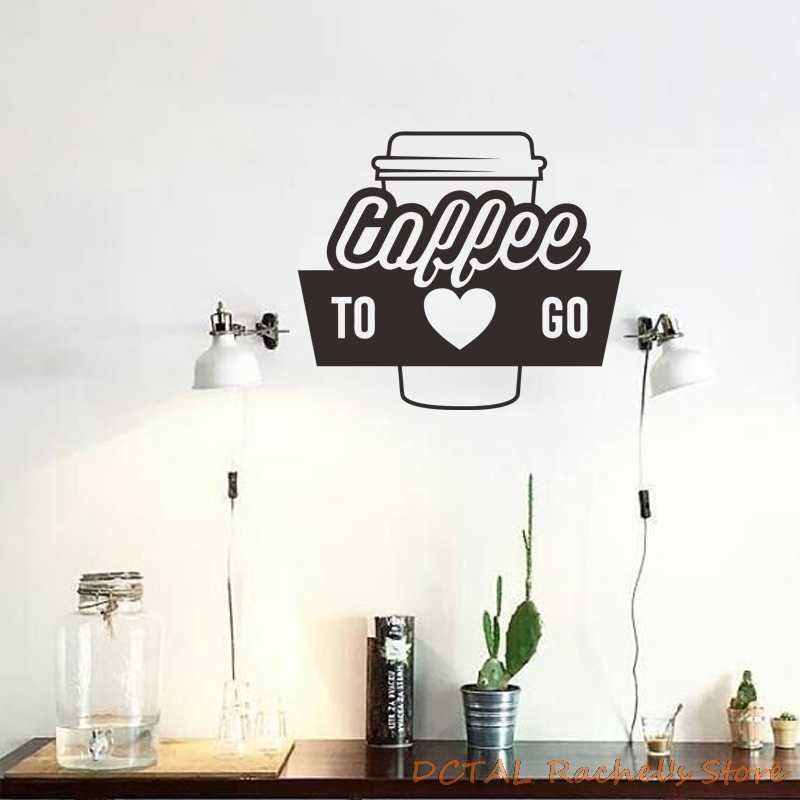 A \u0421afe A Cafe sticker Shop Decor,Windbreaker Sticker Shop Vinyl Snack Bar Restarn Cupcake shop design Bakery GF608 Coffee shop