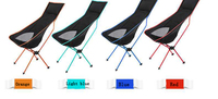 Portable Ultralight Collapsible Moon Leisure Camping Chair With Bag For Outdoor Hiking Travel Picnic BBQ Beach