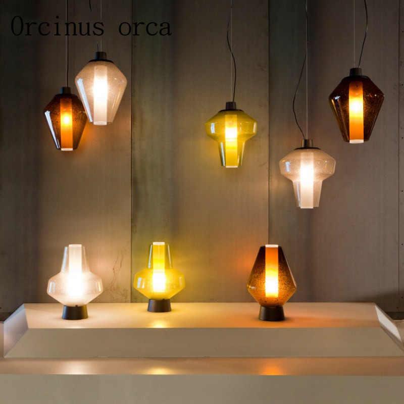 Скандинавские Современные Простые стеклянные люстры для ресторанов бар креативная Ретро промышленная ветровая люстра бесплатная доставка