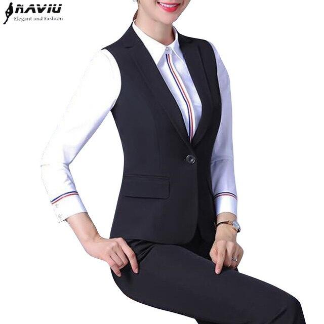 bd0c9a49d05 Модные женские туфли жилет брючные костюмы для женщин весна осень ...