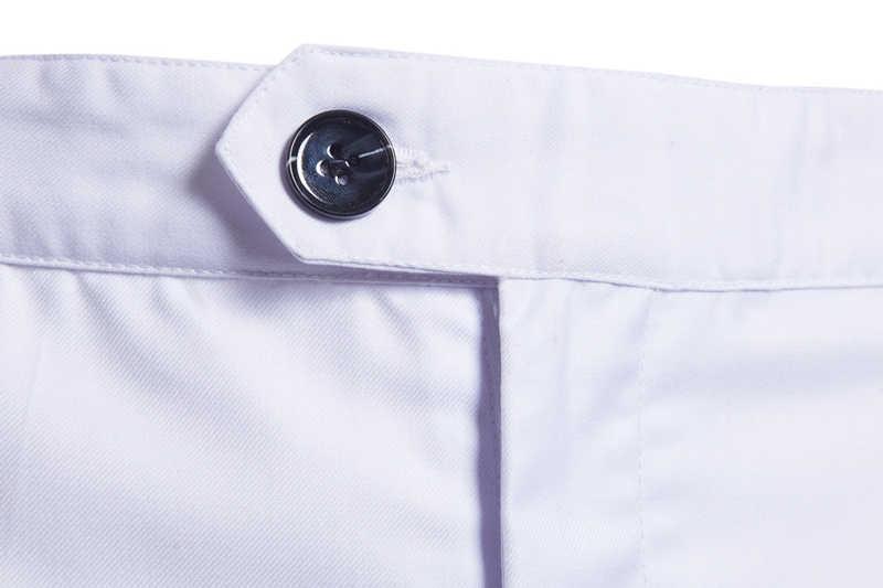 白スリムフィットストレートドレス男性 2019 新フォーマルビジネスズボン男性フラットフロントカジュアル結婚式新郎スーツパンツ男性