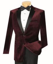 Velvet Burgundy Tuxedo Coat Mens Suit Slim Fit 40r 42r 44r 46r 46l 48l Custom